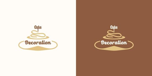 Logo de boulangerie, logo de gâteau, référence pour les entreprises