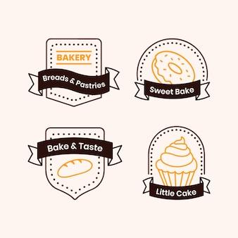 Logo de boulangerie rétro