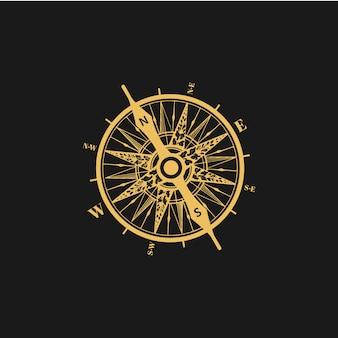 Logo de boussole vecteur