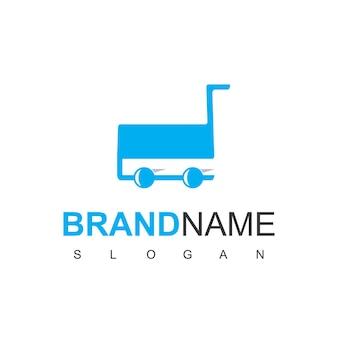 Logo de la boutique avec symbole de chariot