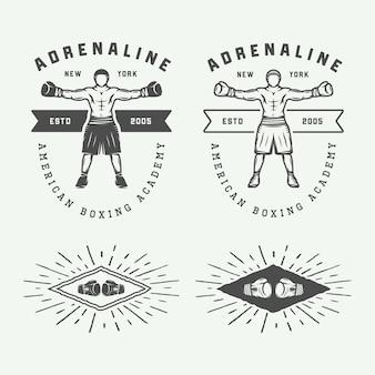 Logo boxe et arts martiaux