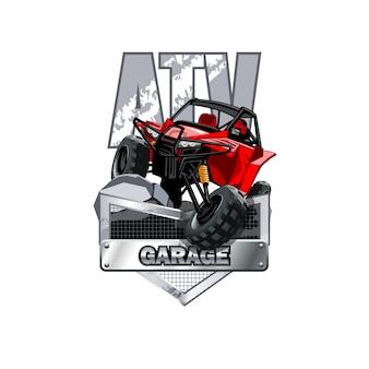 Logo de buggy vtt tout terrain