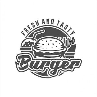 Logo burger frais et savoureux