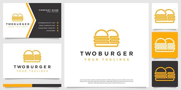 Logo burger, avec un style minimaliste simple