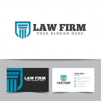 Logo de cabinet d'avocats et modèle de carte de visite