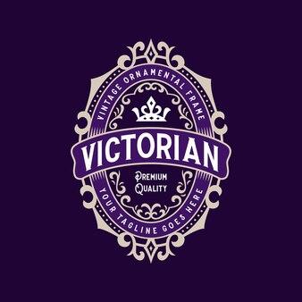 Logo de cadre décoratif décoratif vintage