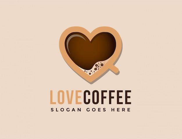 Logo de café d'amour