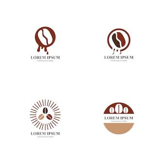 Logo de café et modèle d'illustration vectorielle d'icône