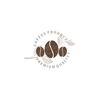 Logo de café pour le café resto et l'étiquette du produit