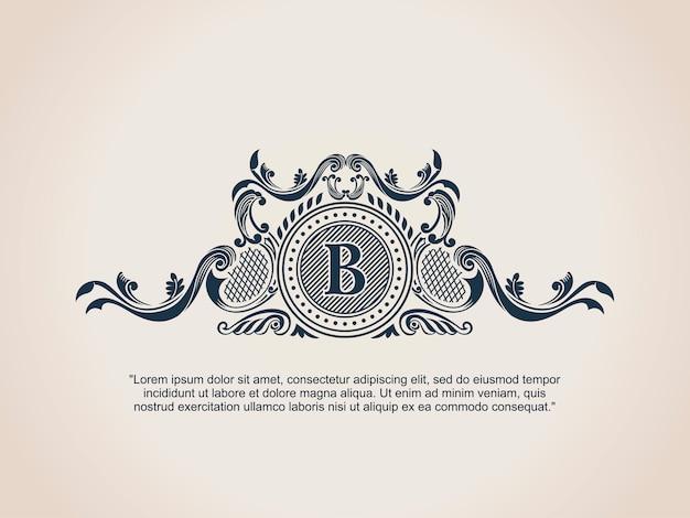Logo calligraphique vintage