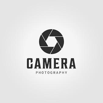 Logo caméra obturateur icône vintage conception illustration vectorielle