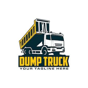 Logo de camion à benne basculante