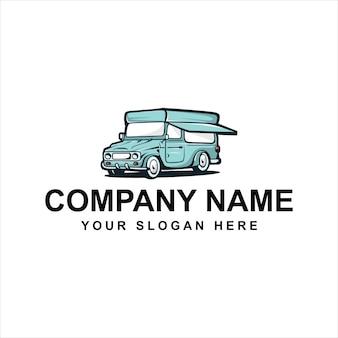 Logo de camion de crème glacée