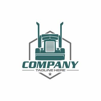 Logo de camion semi