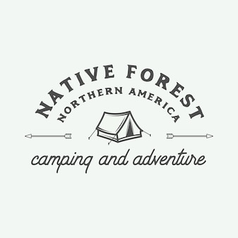 Logo camping plein air et aventure