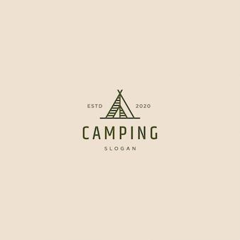 Logo camping rétro vintage