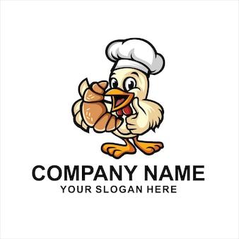 Logo de canard de boulangerie