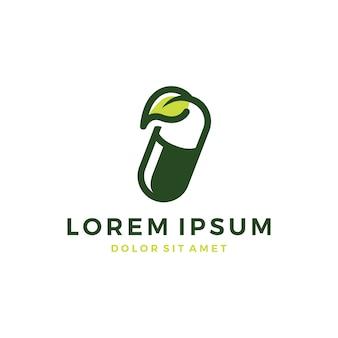 Logo de capsule à base de plantes