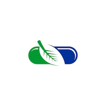 Logo de capsule de feuille