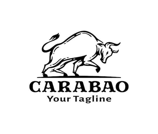 Logo de carabao au design vintage