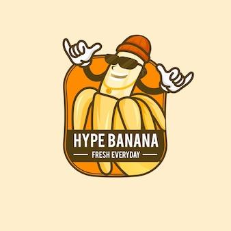 Logo de caractère banane