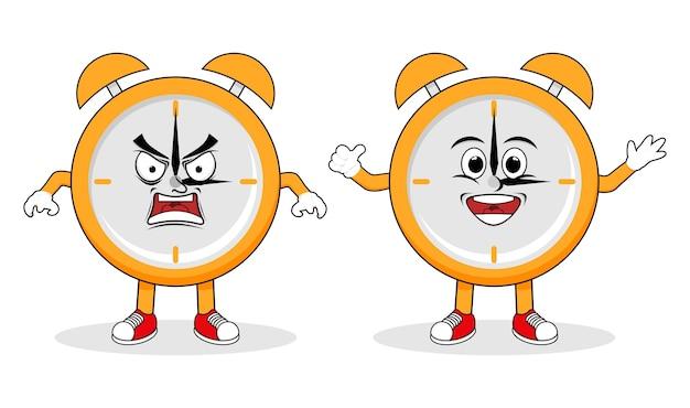 Logo de caractère d'horloge