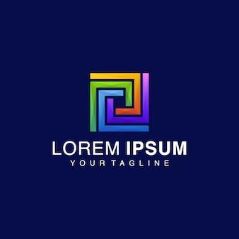 Logo carré gradient