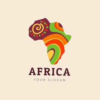 Logo de carte afrique colorée