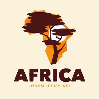 Logo de carte de l'afrique créative