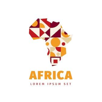 Logo de la carte de l'afrique