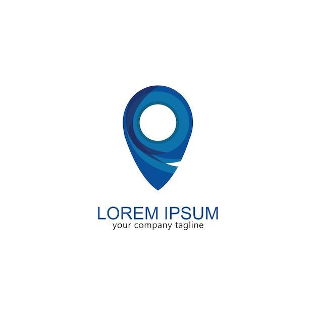 Logo carte icône gps moderne