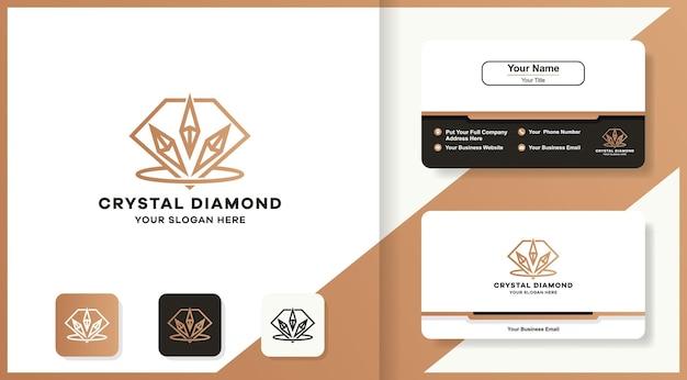 Logo et carte de visite de décoration de diamant en cristal