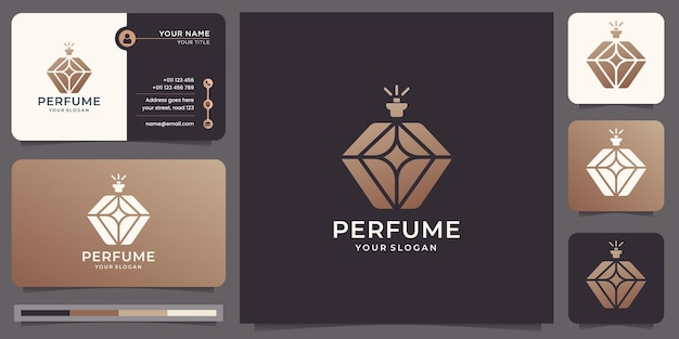 Logo et carte de visite de parfum de luxe