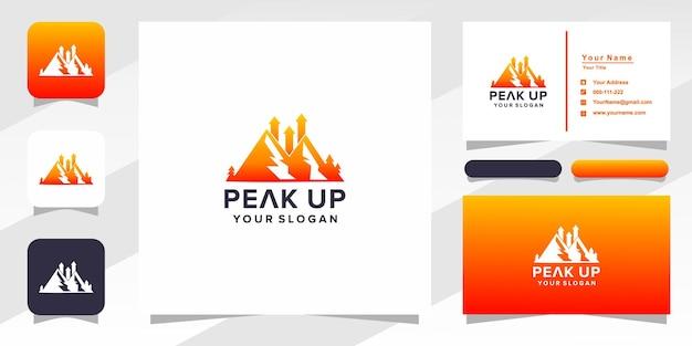 Logo et carte de visite de pointe