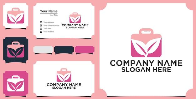 Logo et carte de visite de valise de voyage