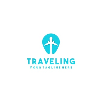 Logo de cartes d'avion créatif
