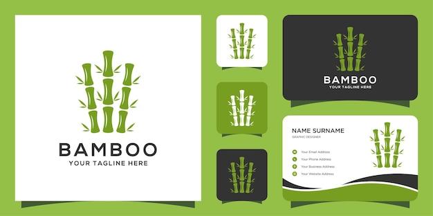 Logo Et Cartes De Visite En Bambou Vecteur Premium