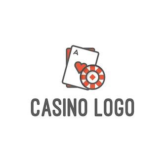 Logo de casino et de jeu isolé sur fond blanc