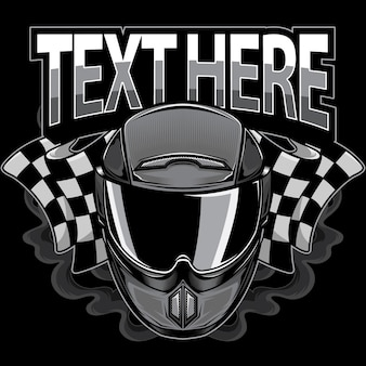 Logo de casque de moto