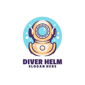 Logo de casque de plongeur