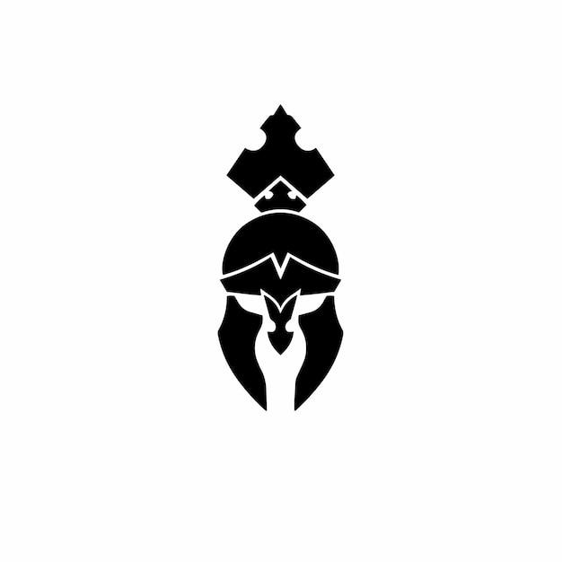 Logo casque spartiate conception tatouage tribal pochoir illustration vectorielle