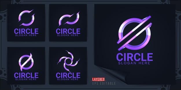 Logo de cercle abstrait