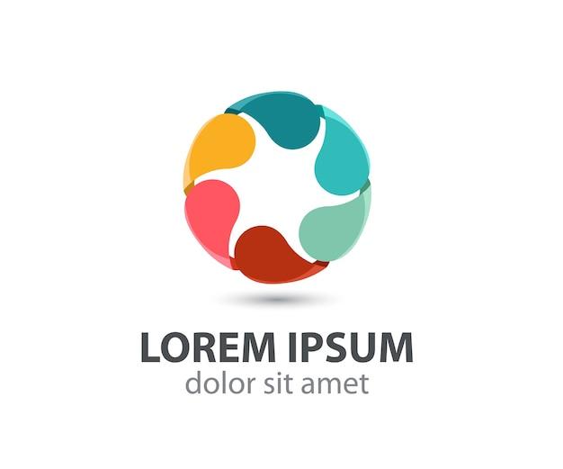Logo de cercle de boucle arc-en-ciel coloré