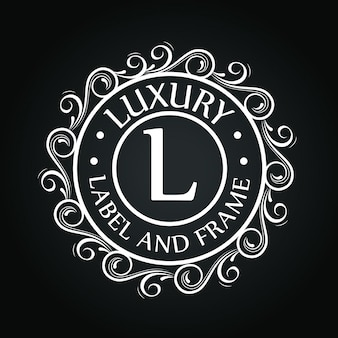 Logo de cercle avec motif d'ornement
