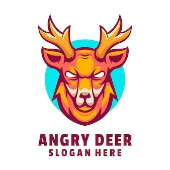 Logo de cerf en colère