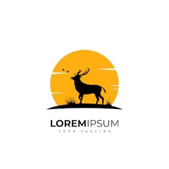 Logo de cerf exclusif