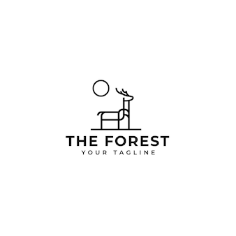Logo de cerf de forêt