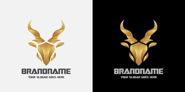Logo de cerf de luxe