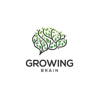 Logo de cerveau en croissance