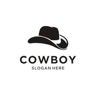 Logo de chapeau de cowboy